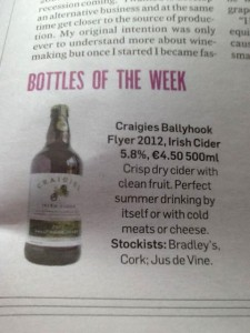 Bottle of the Week, The Irish Times, Saturday 22nd June 2013