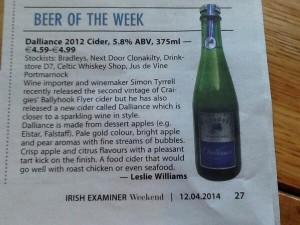 Irish Examiner 12 April 2014