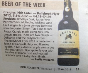 Irish Examiner 13 April 2013